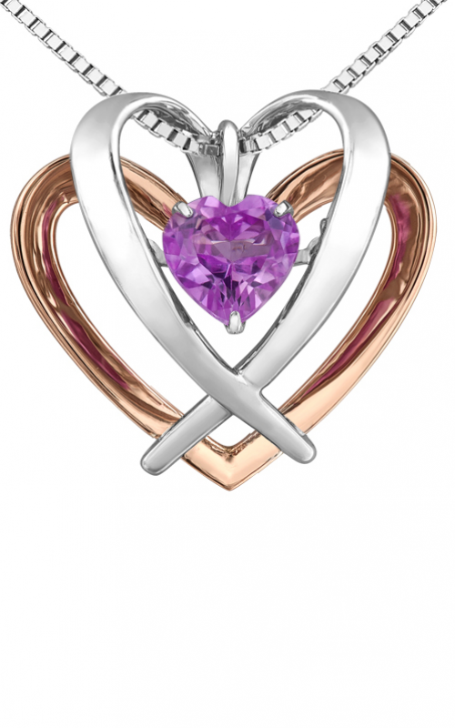 Pulse™ Created Pink Sapphire Solitaire Pendant PP4212C-SR product image