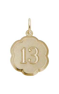 Rembrandt Charms Number Thirteen Scalloped Disc Charm 1331 product image
