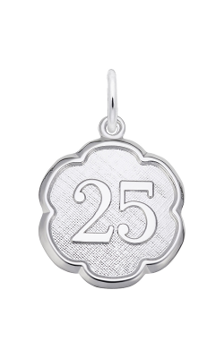 Rembrandt Charms Number Twenty Five Scalloped Disc Charm 1335 product image