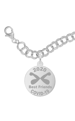 Rembrandt Charms Covid-19 Best Friends Elbow Bump Bracelet Set 7542-0117 product image