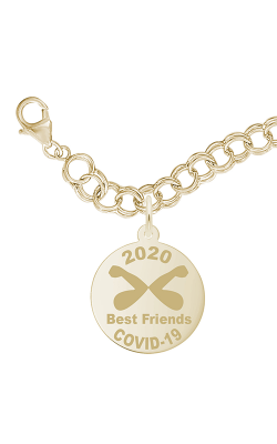 Rembrandt Charms Covid-19 Best Friends Elbow Bump Bracelet Set 7542-0117 product image