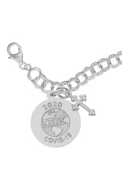 Rembrandt Charms Covid-19 World Faith With Cross Bracelet Set 7544-01-0117 product image