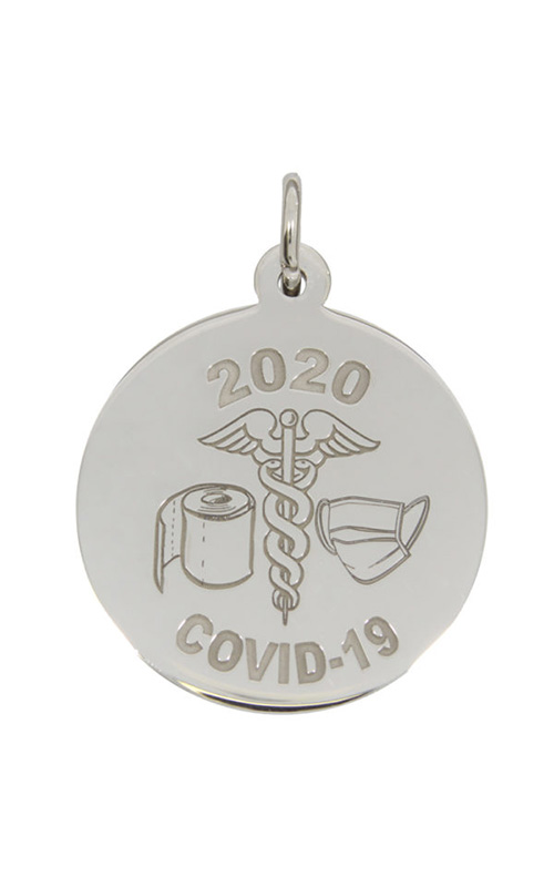 Rembrandt Charms Covid-19 T-Paper & Mask Caduceus Charm 7540 product image