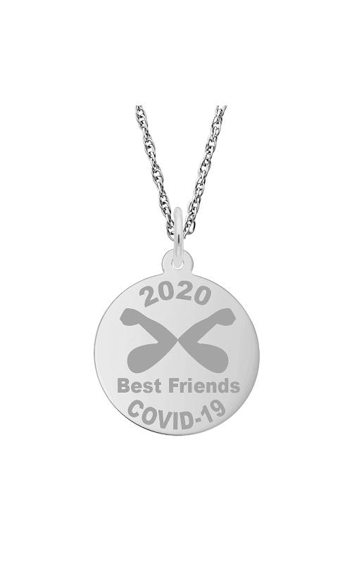 Rembrandt Charms Covid-19 Best Friends Elbow Bump Necklace Set 7542-0087 product image