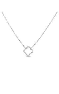 Roman And Jules Quatrefoil Diamond Pave Necklace EN1033-1 product image