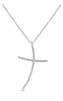 Roman And Jules Diamond Pave Abstract Cross Necklace EN1024-1 product image