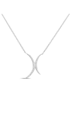 Roman And Jules Double Crescent Diamond Pave Necklace EN1031-1 product image