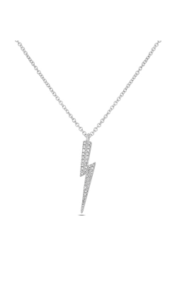 Roman And Jules Lightning Bolt Diamond Pave Necklace EN1040-1 product image