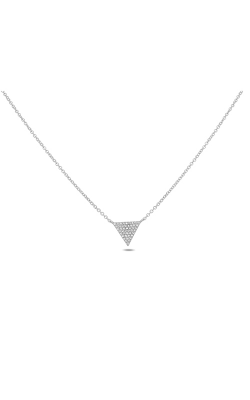 Roman And Jules Triangle Diamond Pave Necklace EN1028-1 product image