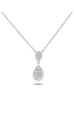 Roman And Jules Double Pear Diamond Pave Necklace EN1022-1 product image
