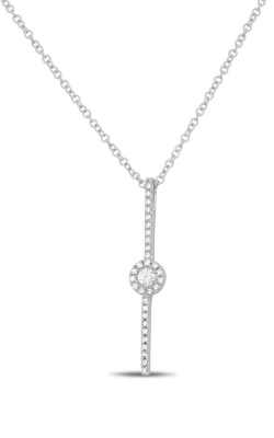Roman And Jules Diamond Pave Circle Bar Necklace EN1046-1 product image