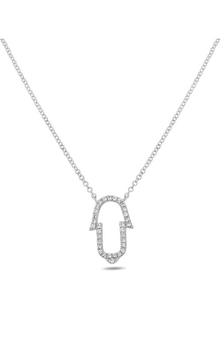Roman And Jules Curved Diamond Pave Necklace EN1023-1 product image