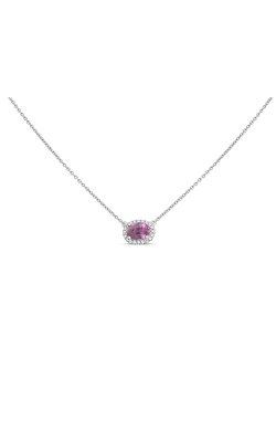 Roman And Jules White Gold Oblong Pink Sapphire Necklace UN1971-13 product image