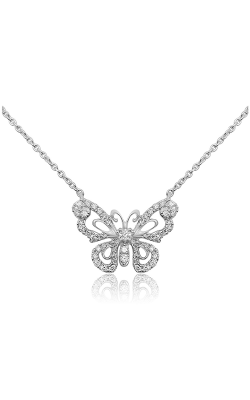 Roman And Jules WHite Gold Butterfly Necklace UN1997-1 product image