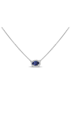Roman And Jules White Gold Oblong Blue Sapphire Necklace UN1971-10 product image