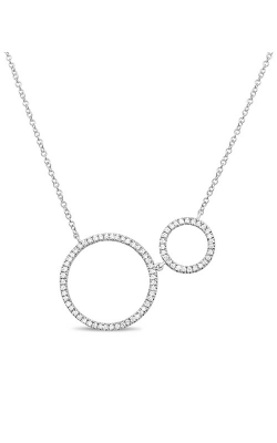 Roman and Jules Double Circle Diamond Pave Necklace EN1026-1 product image
