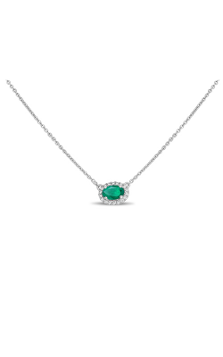 Roman And Jules Oblong Emerald & Diamond Halo Necklace UN1971-12 product image
