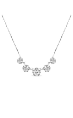 Roman And Jules Five Circle Diamond Pave Necklace EN1048-1 product image