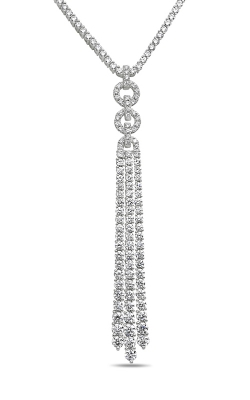 Roman And Jules White Diamond Triple Dangle Necklace GN2956-1 product image