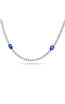 Roman And Jules Long Sapphire & Diamond Necklace UN2115-1 product image