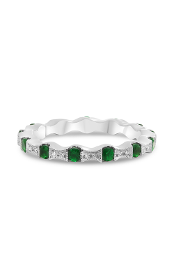 Roman and Jules White Gold Tsavorite & Diamond Eternity Band NR988-11 product image
