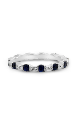 Roman And Jules White Gold Sapphire & Diamond Eternity Band NR988-10 product image