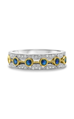 Roman And Jules Round Sapphire & Diamond Milgrain Band UR1219WYSP-BA product image
