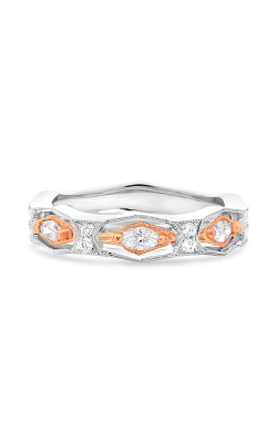 Roman And Jules White & Rose Gold Milgrain Diamond Band NR1072-1 product image