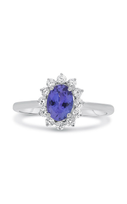 Roman And Jules White Gold Tanzanite Flowering Halo Ring MR500-92 product image
