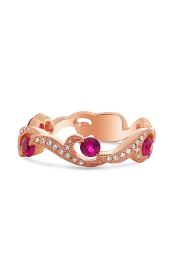 Roman And Jules Rose Gold Ruby & Diamond Filigree Ring NR1071-2 product image