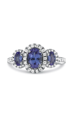 Roman And Jules Nickel Free Triple Tanzanite Halo Ring KR4218WTZ product image