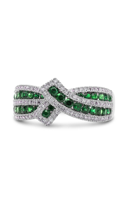 Roman And Jules White Gold Tsavorite & Diamond Ribbon Ring UR2118-3 product image