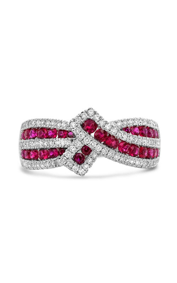 Roman And Jules White Gold Ruby & Diamond Ribbon Ring UR2118-1 product image