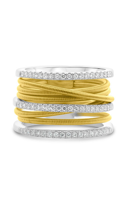 Roman And Jules White & Yellow Gold Stacked Coil Pave Ring MR736-3 product image