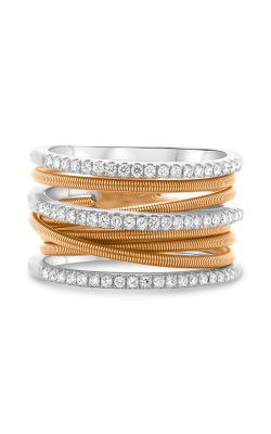 Roman And Jules White & Rose Gold Stacked Coil Pave Ring MR736-4 product image
