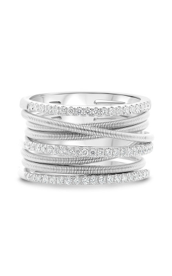 Roman And Jules White Gold Stacked Coil Pave Ring MR736-2 product image