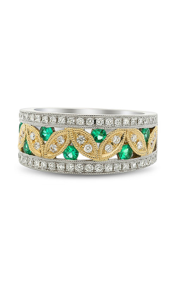 Roman And Jules Emerald & Diamond Milgrain Band KR2286WYEM-2 product image