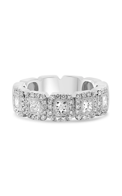 Roman and Jules White Gold Princess Cut Halo Band NR1076-1 product image