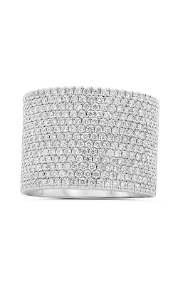 Roman And Jules White Gold Wide Diamond Pave Band KR5945-1 product image