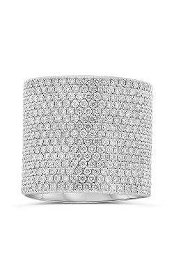 Roman And Jules White Gold Extra Wide Diamond Pave Band KR5946-1 product image