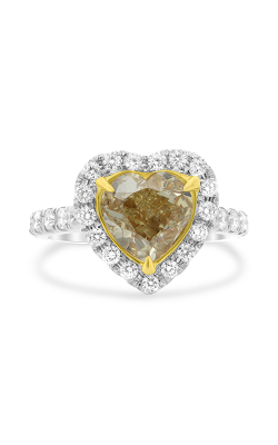 Roman and Jules Heart-shaped Yellow Diamond Halo Ring NR1052B-1 product image