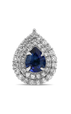 Roman And Jules Pear-shaped Blue Sapphire & Diamond Pendant MP754-1 product image