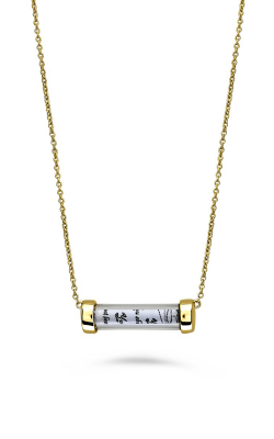 Roman And Jules Yellow Gold Tube Necklace MN801A-2 product image