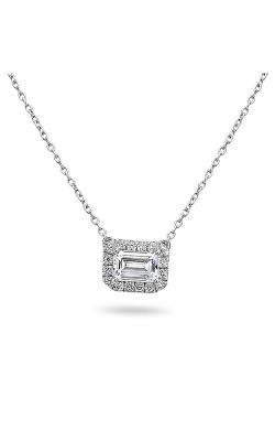 Roman And Jules Pave Diamond Halo Semi Mount Necklace MN807A-1 product image