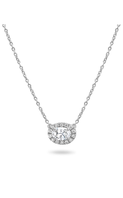 Roman And Jules Pave Diamond Halo Semi Mount Necklace MN807B-1 product image