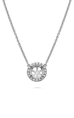 Roman And Jules Pave Diamond Halo Semi Mount Necklace MN807C-2 product image