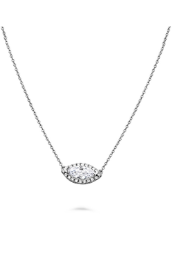 Roman And Jules Pave Diamond Halo Semi Mount Necklace MN807D-1 product image