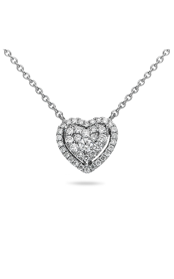 Roman And Jules Heart-Shaped Diamond Halo Pendant Necklace UN1887D-1 product image