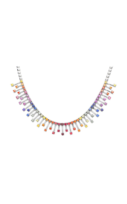 Roman And Jules White Gold Rainbow Sapphire Necklace GN2634-1 product image