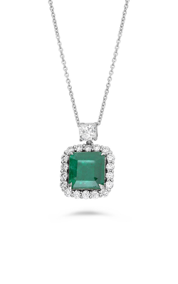 Roman And Jules 18k White Gold Emerald And Diamond Pendant Necklace MN894-1 product image